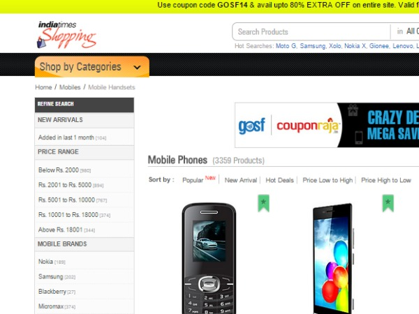 Upto 20% Off on New Smartphones