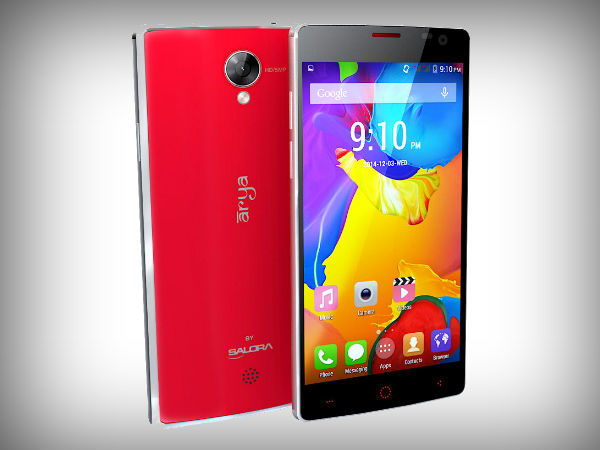 Salora Arya A1 Plus Launched with Android KitKat at Rs 5,499