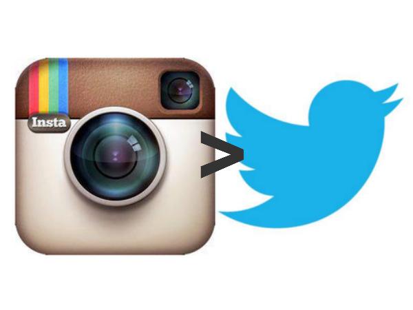 Instagram Beats Twitter in Active Users