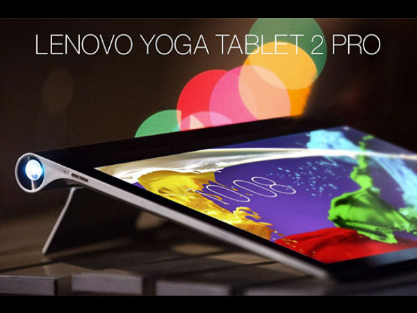 Lenovo Yoga Tablet 2 Pro with inbuilt projector Launched for Rs 49,490