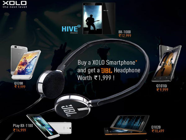 Xolo Offers Free JBL Headphones with Selected Device