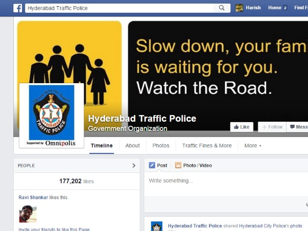 All Police Stations in Hyderabad on Facebook