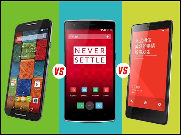 8bbca3bd63f Motorola Moto X (2nd Gen) Vs OnePlus One Vs Xiaomi Redmi Note 4G ...