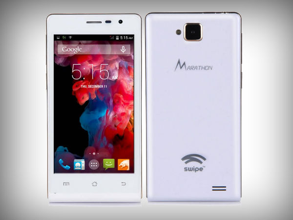 Swipe Marathon Launched with 5MP Camera and Android KitKat at Rs 4,599