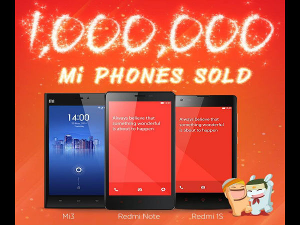 Xiaomi Sells 1 Million Units in India in First 5 Months