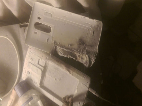 LG G3 Battery Reportedly Explodes While Charging!