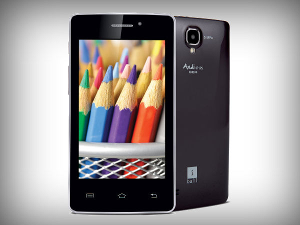 iBall Andi4P IPS GEM and Andi4 ARC: Listed on Official Website