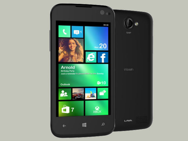 Lava Iris Win1: Celkon Win 400 Competitor Launched With Windows Phone