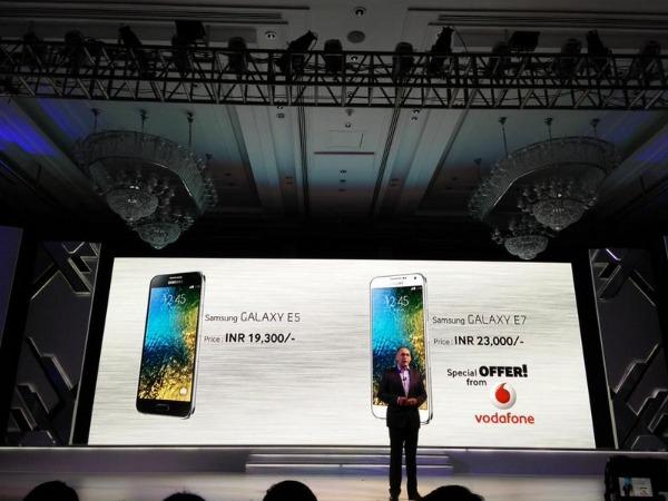 Samsung unveils Galaxy A5, A3, E7, E5 in India