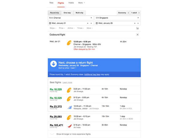 Google Introduces Flight Search Option, Includes Great Deals and Offer