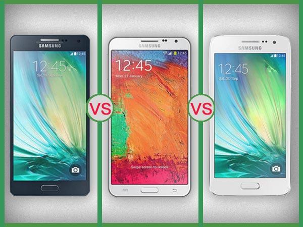 Samsung Galaxy A7 Vs Galaxy A5 Vs Galaxy A3