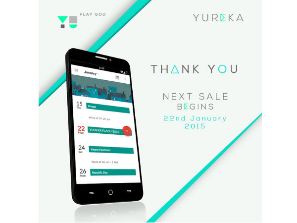 Yu Yureka: 10,000 Units Sold out in Just 3 Seconds