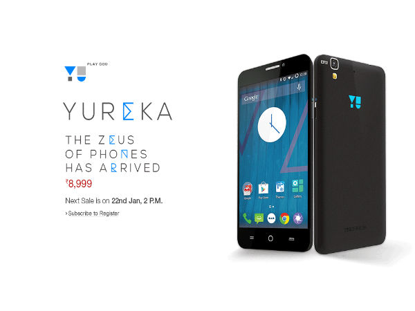 Micromax Yu Yureka Second Flash Sale Will Take Place on January 22