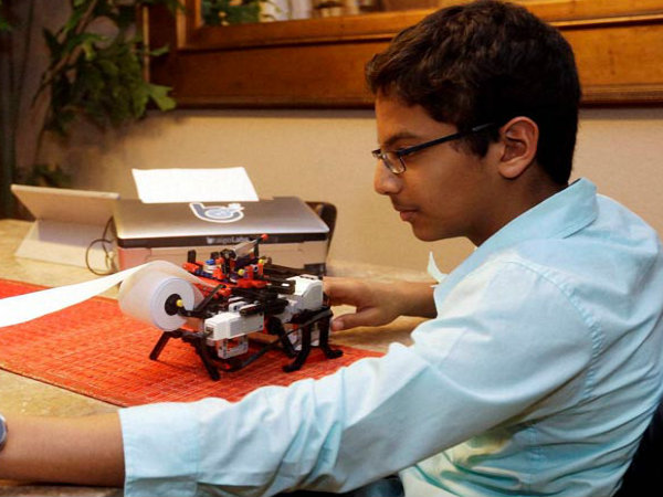 Indian-origin boy working with Microsoft for Braille Printer