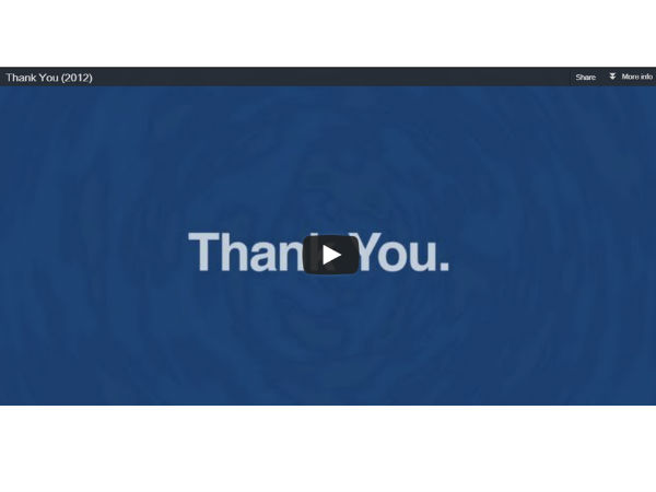 Facebook say thanks video making tool: