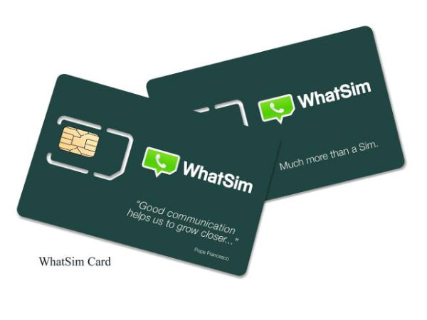 WhatSim SIM card give you access to WhatsApp without data connectivity