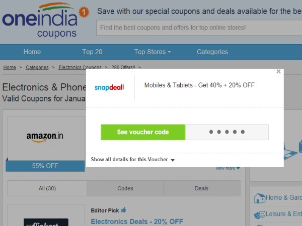 Get 40% + 20% Off On Mobiles & Tablets at Snapdeal