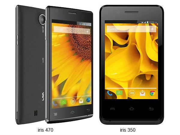 Lava Iris 350 and 470 Launched in India at Rs 2,999 and 4,399