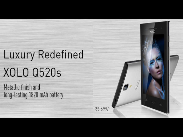 Xolo Q520s with 3G, 5MP Camera Launched at Rs 5,699