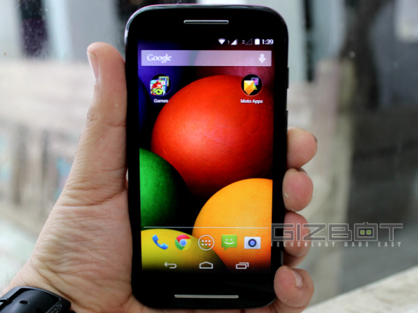 Motorola Moto E Offers 5MP Camera