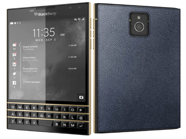 BlackBerry Passport Limited Edition with Black & Gold Variant Launched