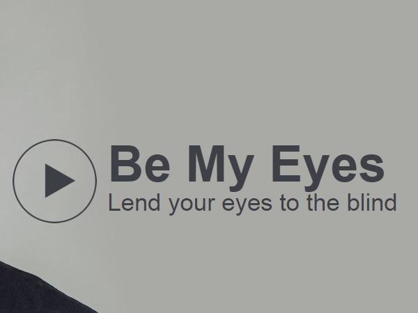 App helps blind see via healthy volunteers