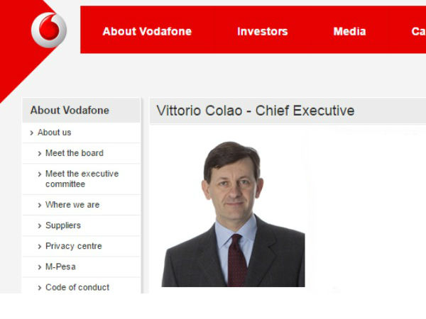 Vodafone Group CEO meets Ravi Shankar Prasad