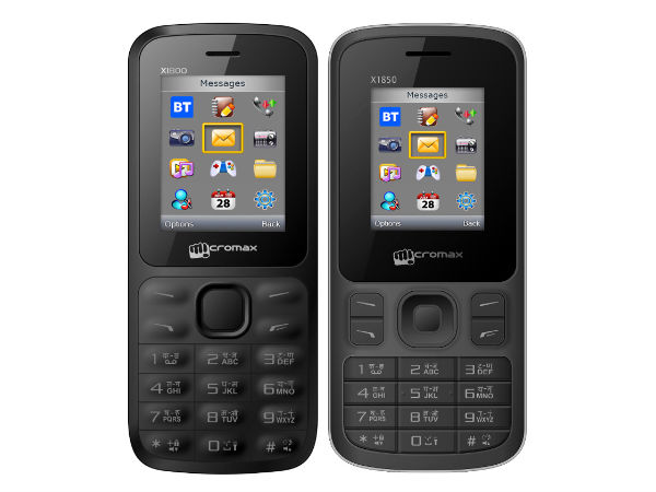 Micromax Packs Joy X1899 and Joy X1850 at Rs 699 and Rs 799