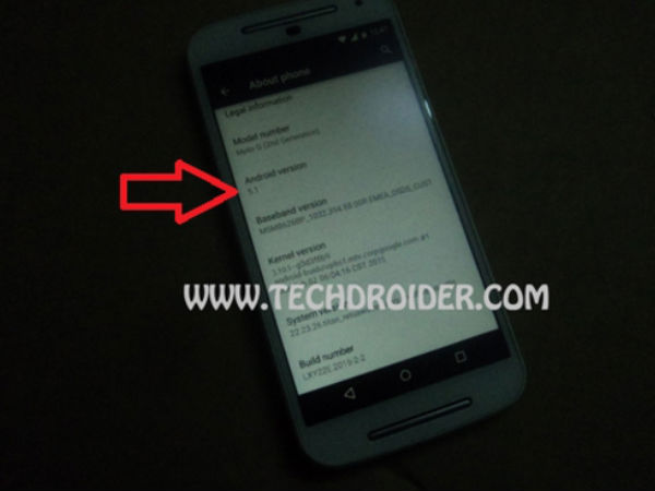 Android 5.1 spotted on Moto G 2nd Gen [Report]