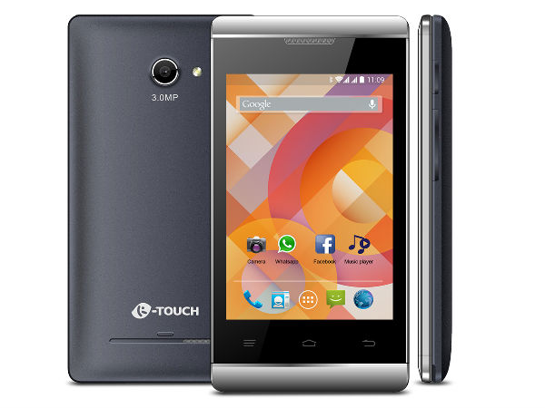 K Touch 20 with 3G, KitKat 4.4 Launched at Rs 2,999