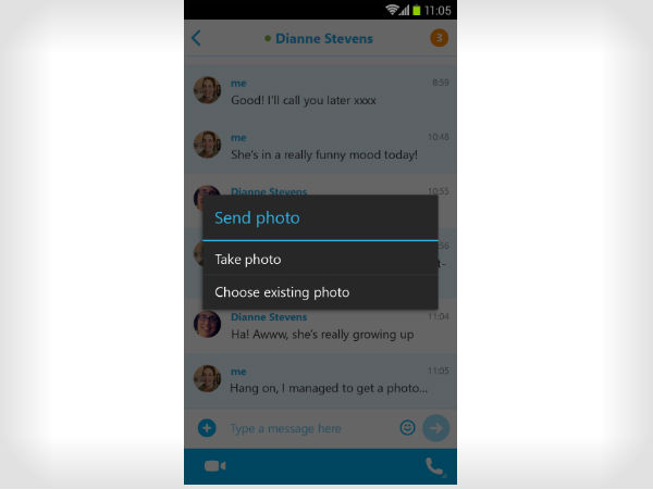 Skype 5.2 Allows Offline Photo Sharing for Android Devices