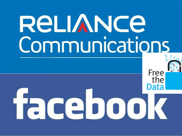 RCom, Facebook tie-up to provide  Free Data Access to 33 websites