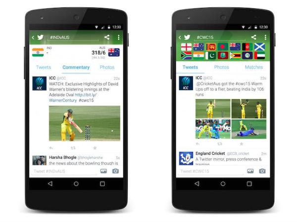 ICC Cricket World Cup 2015: Twitter Introduces Official Timeline for U