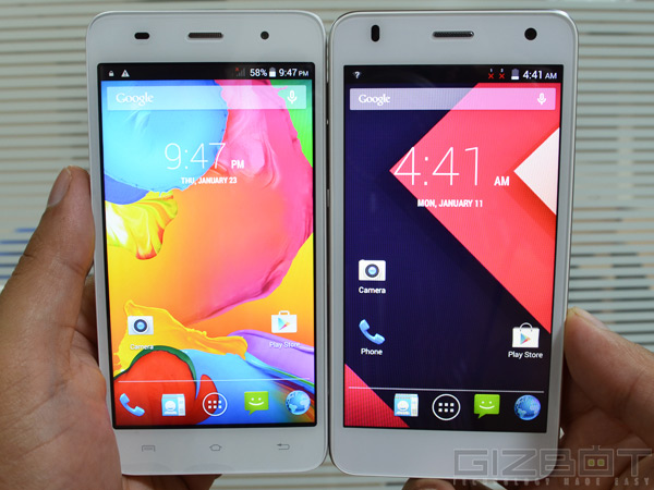 Lava Iris X1 Grand vs Lava Iris X8: Display