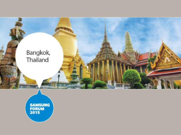 GizBot Live from Samsung Forum 2015, Bangkok [Live Blog]