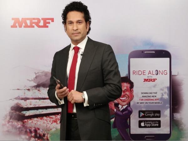 Tendulkar launches MRF's cricket fan app for World Cup