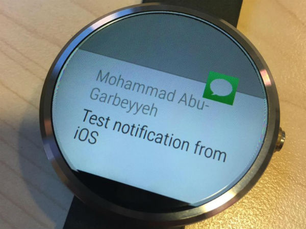Android Wear Smartwatch Shown Paired To iOS [VIDEO]