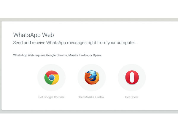 Whatsapp Web is Now Available for FireFox and Opera Browsers