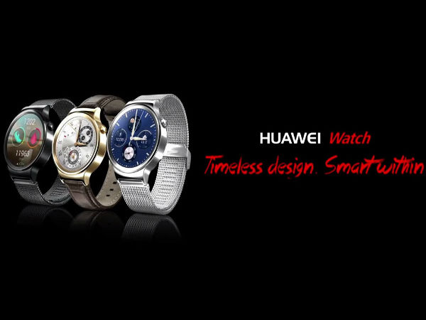 MWC 2015: Huawei Watch with Sapphire Crystal Lens Announced