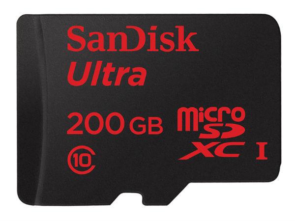 MWC 2015: SanDisk Ultra 200GB MicroSDXC Memory Card Announced