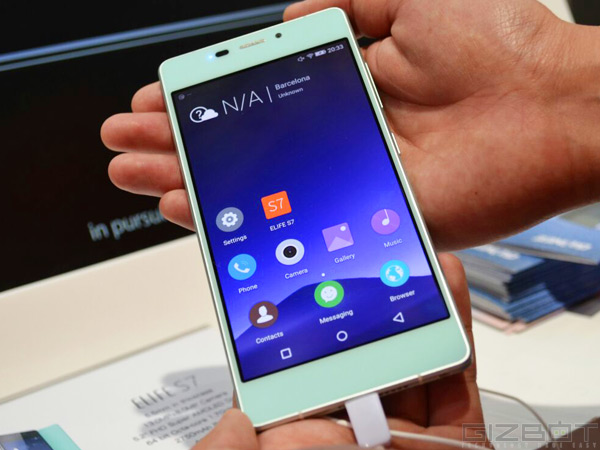 Gionee Elife S7 during Hands-On