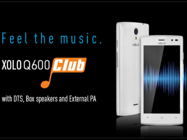 Xolo Q600 Club with DTS Audio, 3G Unveiled at Rs 6,499