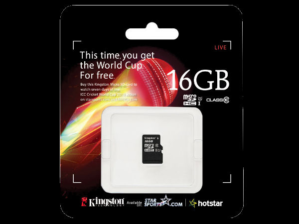 Cricket World Cup 2015: Kingston Launches Limited Edition MicroSD Card