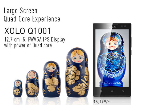 Xolo Unveils A Dirt Cheap Smartphone With FWVGA IPS Display