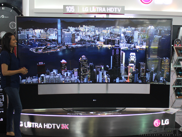 Big in Size, Bigger in Price: LG 105 Inch Curved Ultra HD 5K TV Shown