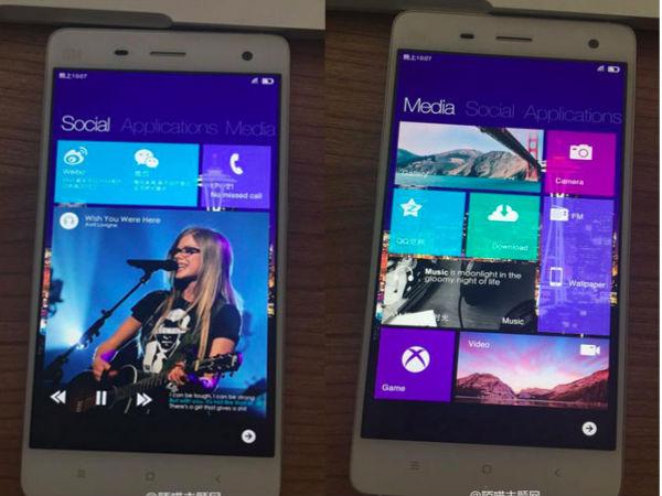 Xiaomi Mi 4 running Windows 10 Images Leaked [Report]