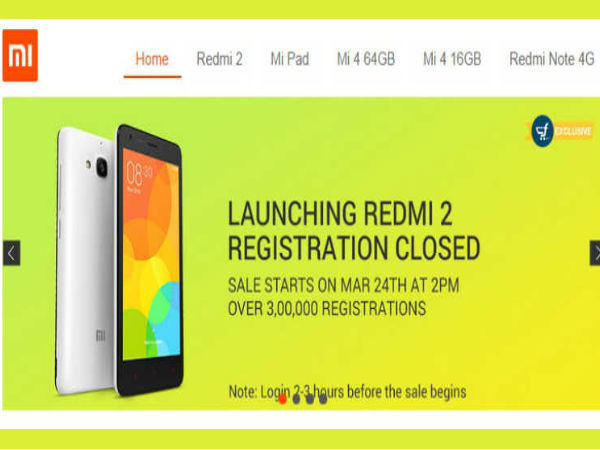 Xiaomi Redmi 2 to Go on Flash Sale Today at 2PM on Flipkart