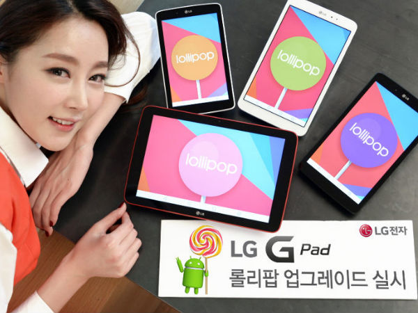 LG Bringing Android Lollipop 5.0 Update to G2, G3 And GPad Tablets