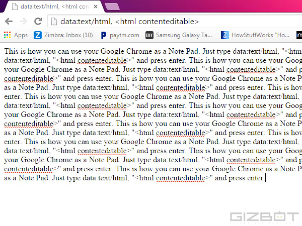 Google Chrome Can Be Used As a Notepad