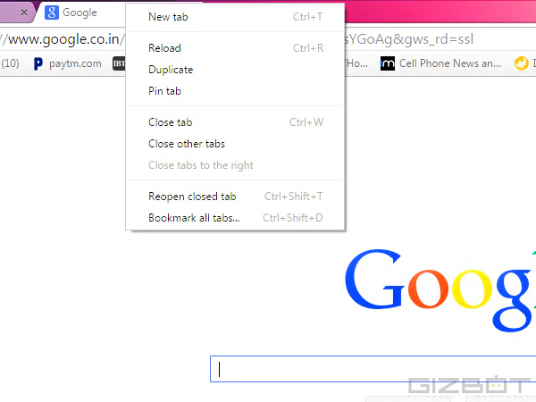 Pin Your favourite Tabs to Chrome